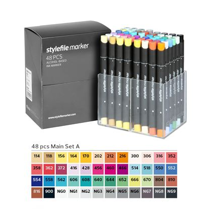 Picture of Stylefile Markers Set 48Apcs