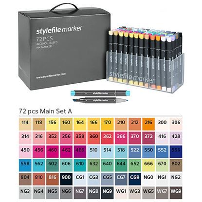 Picture of Stylefile Markers Main Set A 72pcs