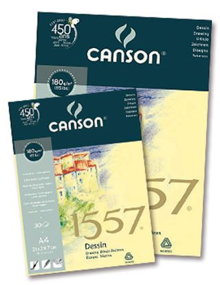 Picture of Canson 1557 Dessin Drawing Pad (light grain) Binded Edge 180g