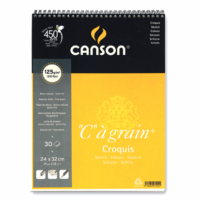 "Picture of Canson ""C""agrain Croquis Sketch Pad (Fine grain) Sping Edge 125g"