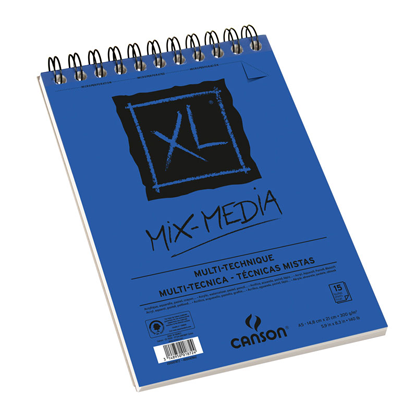 Picture of Canson XL Mix Media Spiral Sketch Pad For Acrylic & Watercolor (Blue) 300g