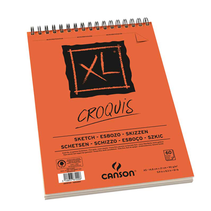 Picture of Canson XL Croquis wired(Orange) 90g