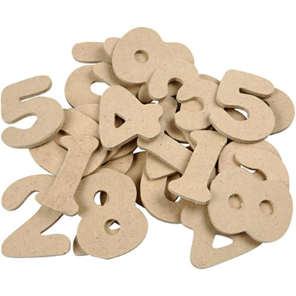 Picture of Dalian Wood Individual NUMBERS