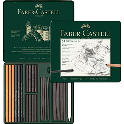 Faber Castell - PITT CHARCOAL TIN SET OF 24