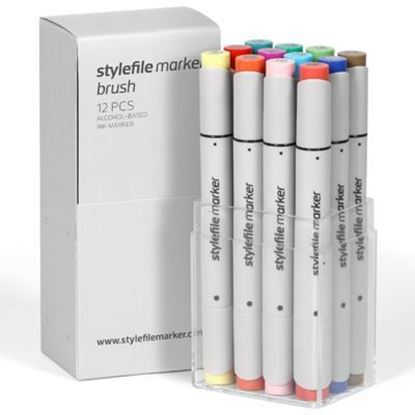 Picture of Stylefile Marker Brush 12 pcs Main B set