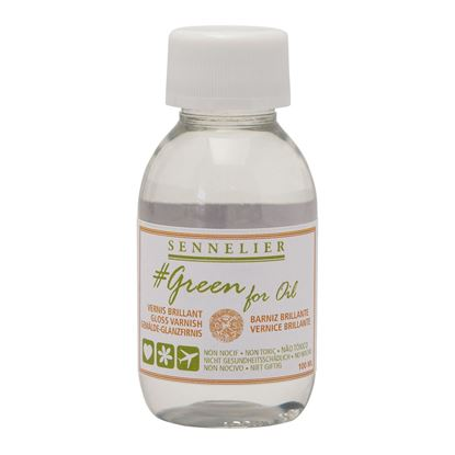 Picture of Sennelier Gloss Painting Varnish 100ml- GREEN FOR OIL