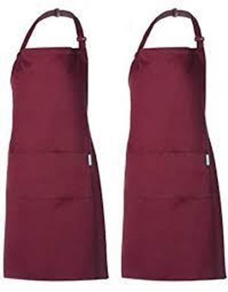 Picture of Rosa APRON Adult, Burgundy