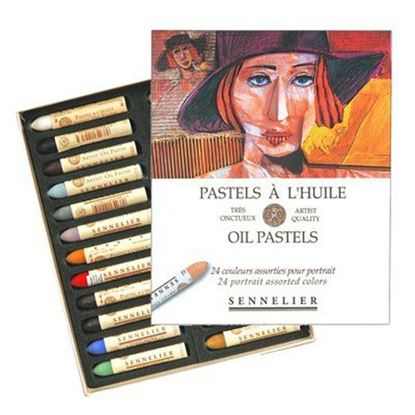 Sennelier Oil Pastel Cardboard Set of 24 Oil Pastel - Portrait