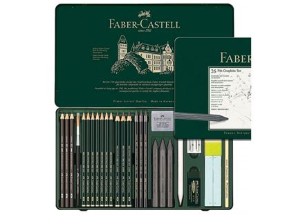 Faber Castell - PITT GRAPHITE TIN SET OF 26