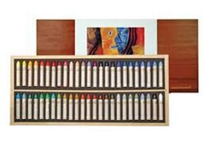 Sennelier Oil Pastel Wooden Box Set of 50 Oil Pastel - Universal