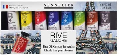 Sennelier Rive Guache Oil Set - 8 x 40ml